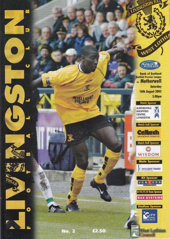 versus Livingston Programme Cover