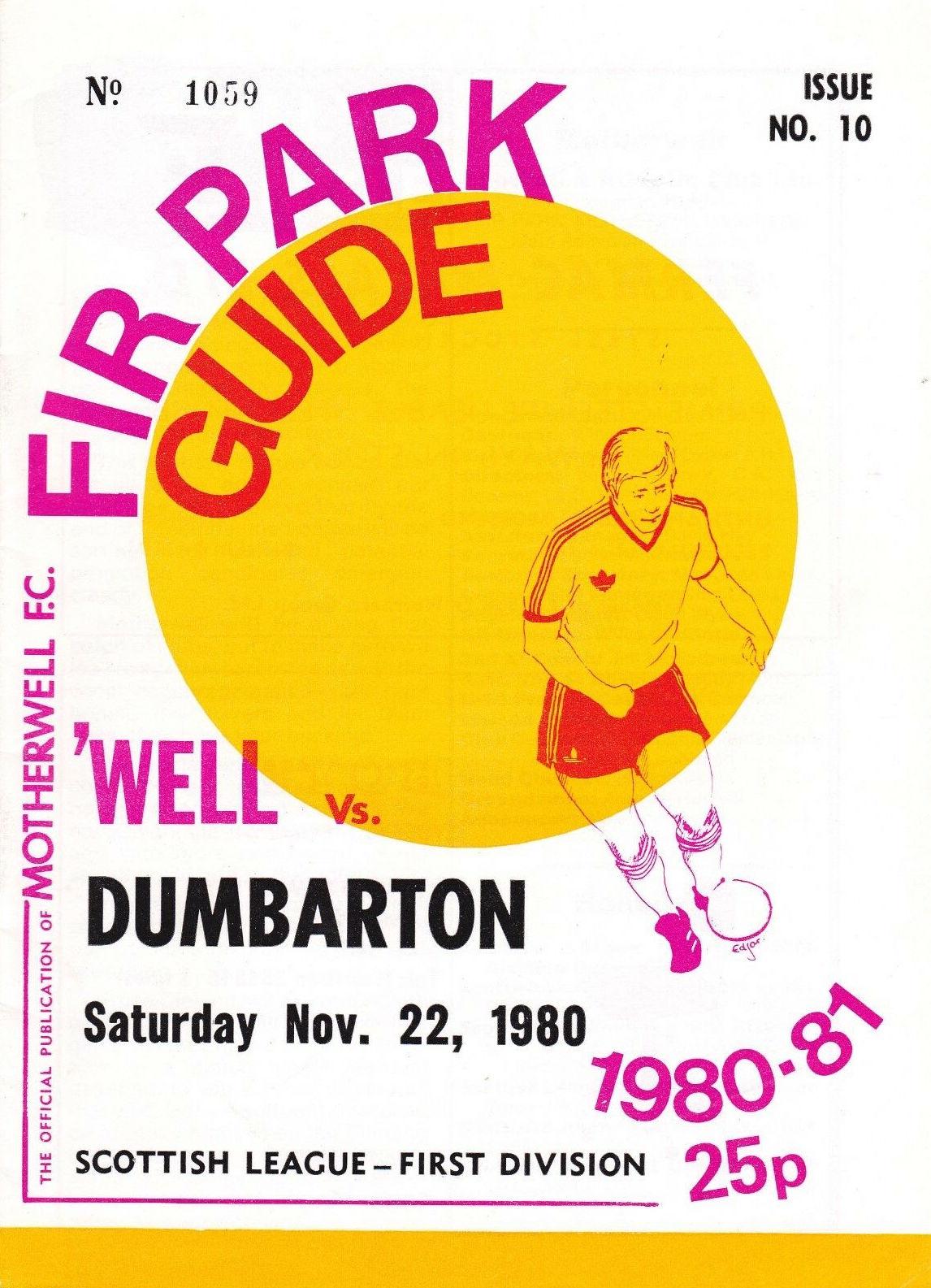 versus Dumbarton Programme Cover