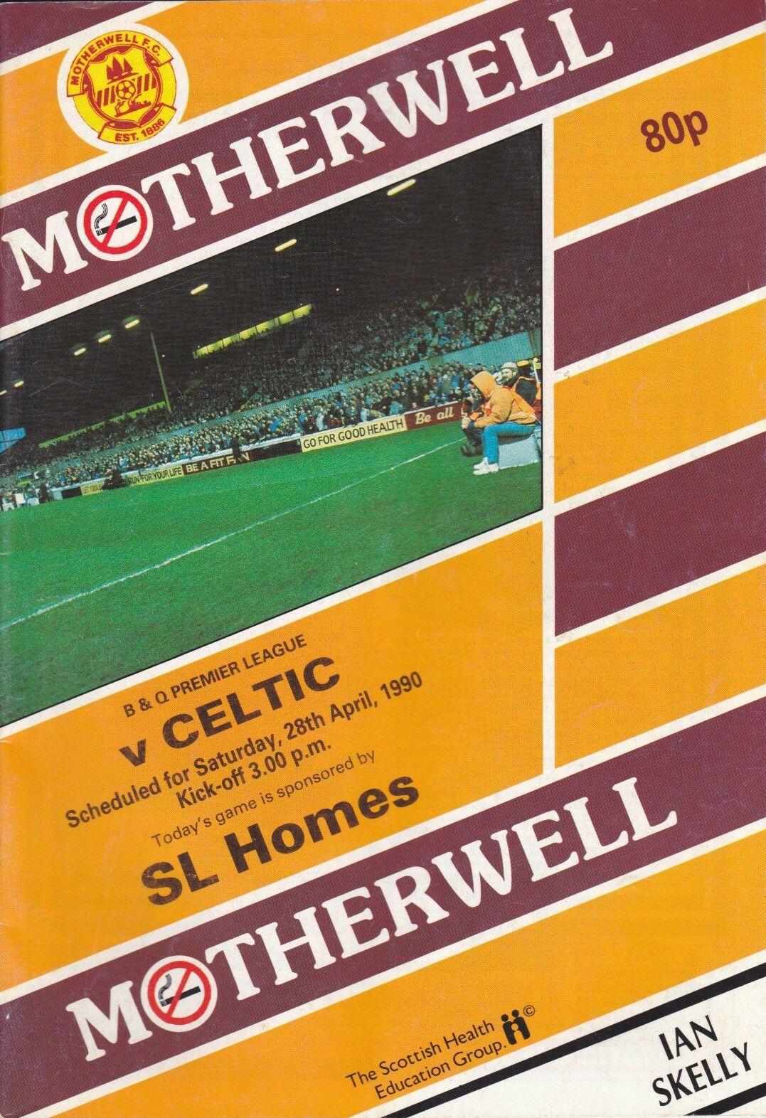 versus Celtic Programme Cover