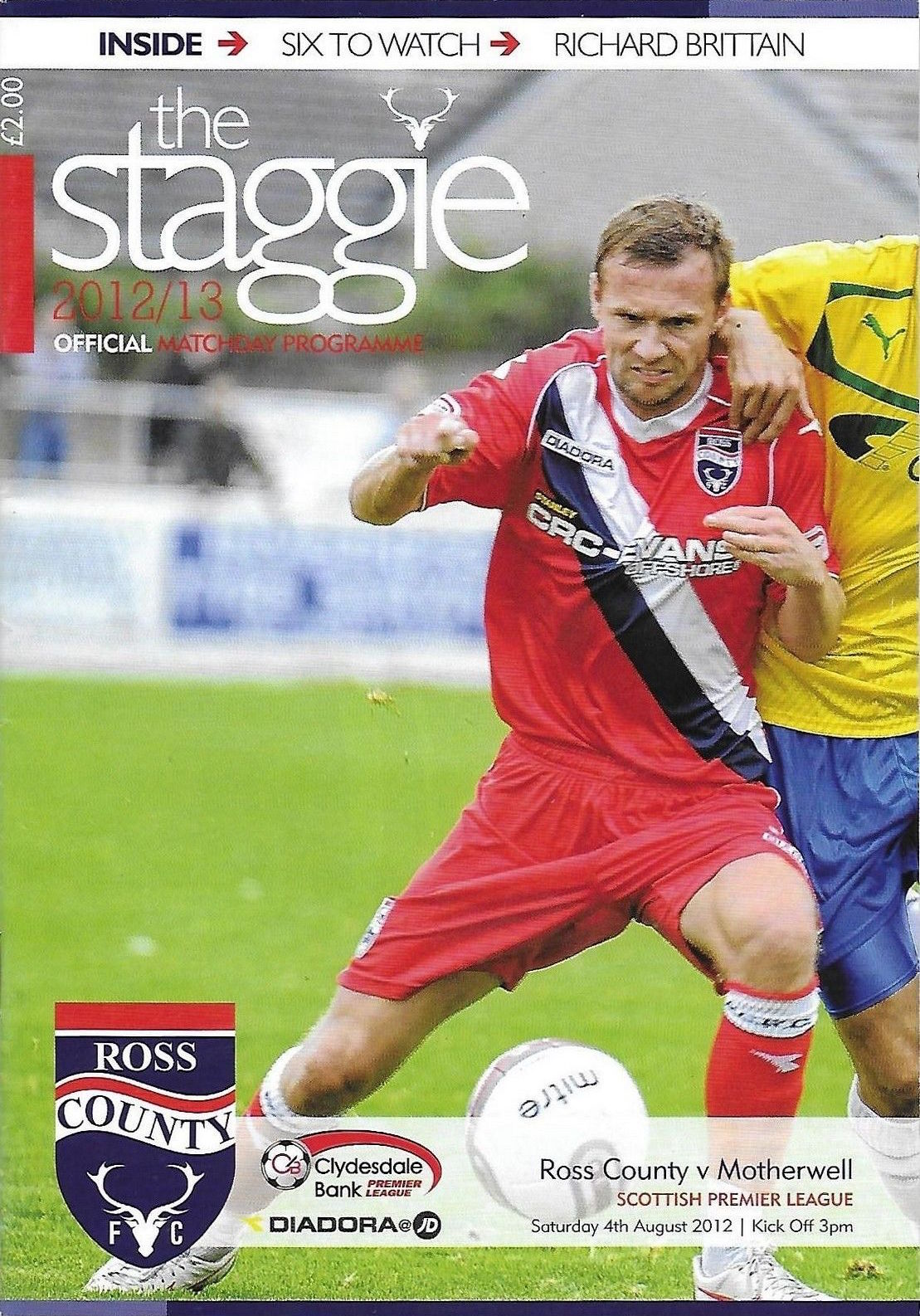 versus Ross County Programme Cover