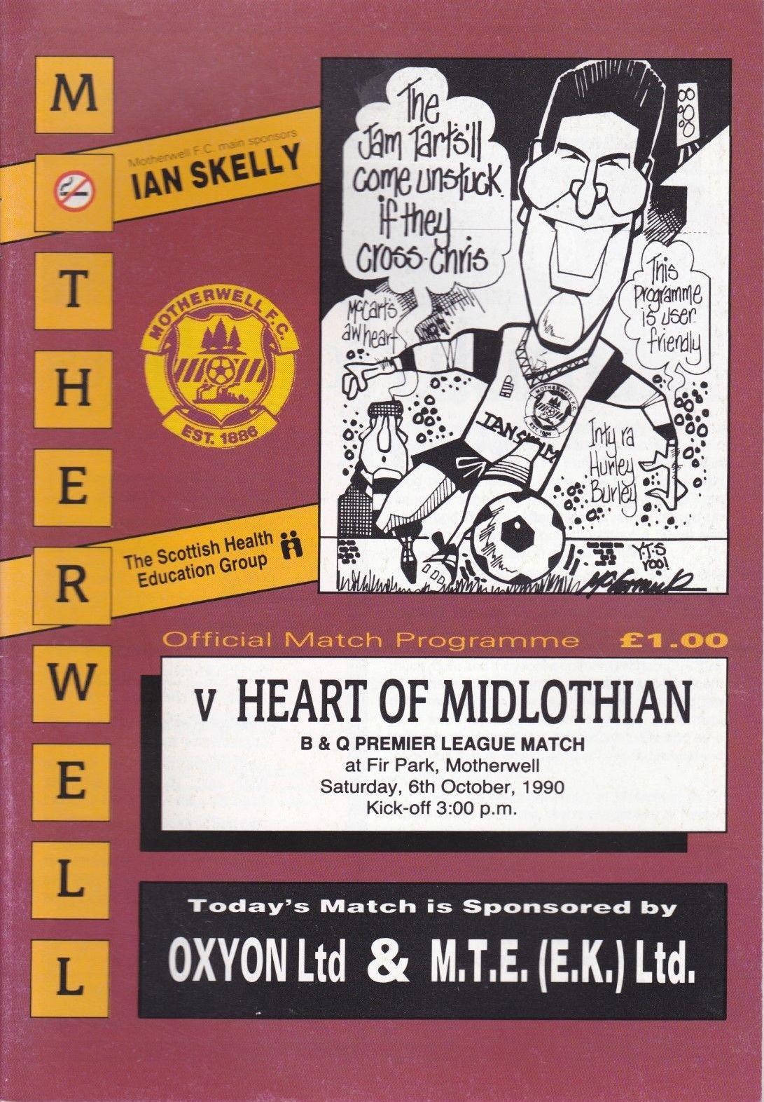 versus Hearts Programme Cover