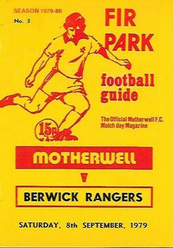 versus Berwick Rangers Programme Cover