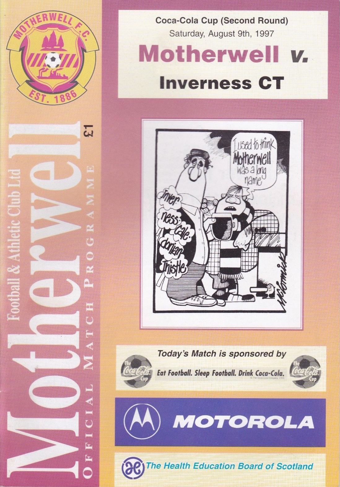 versus Inverness Programme Cover
