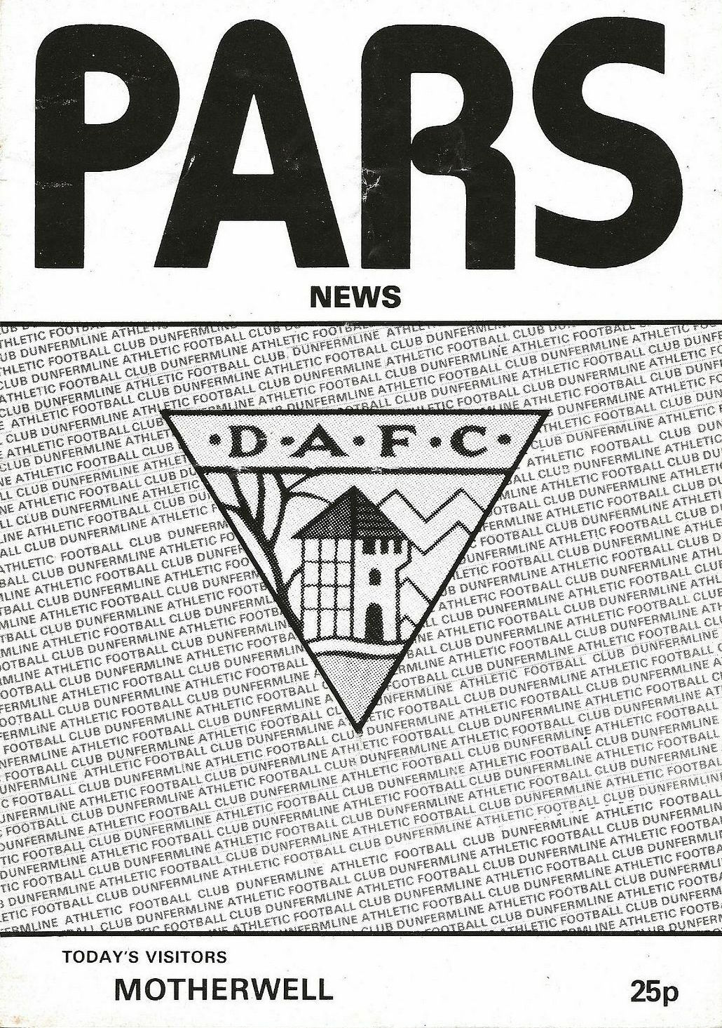 versus Dunfermline Athletic Programme Cover