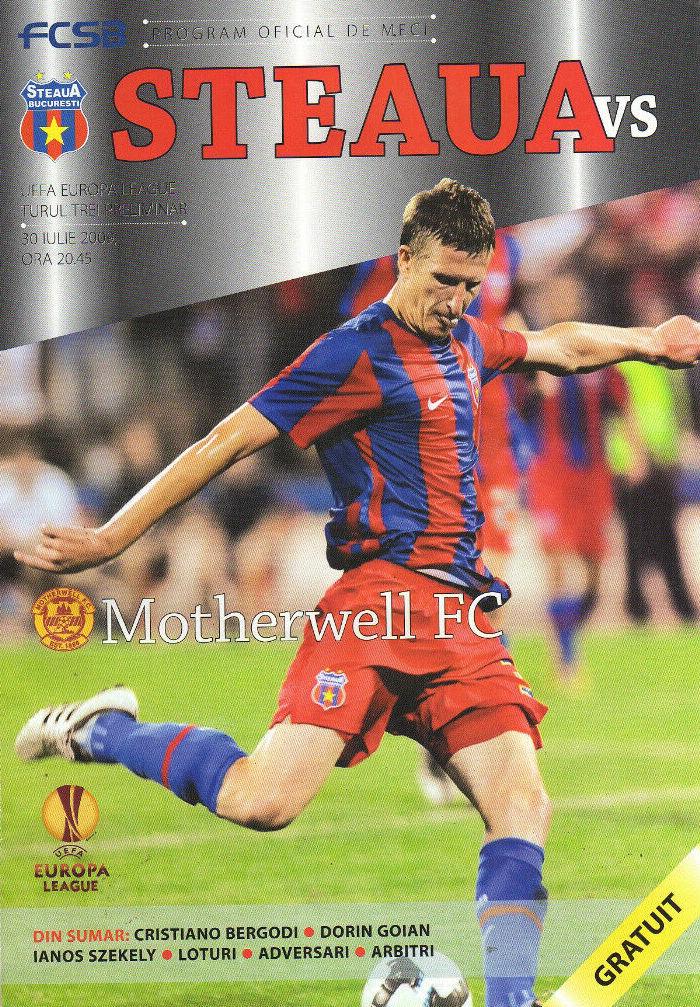 versus Steaua Bucharest Programme Cover