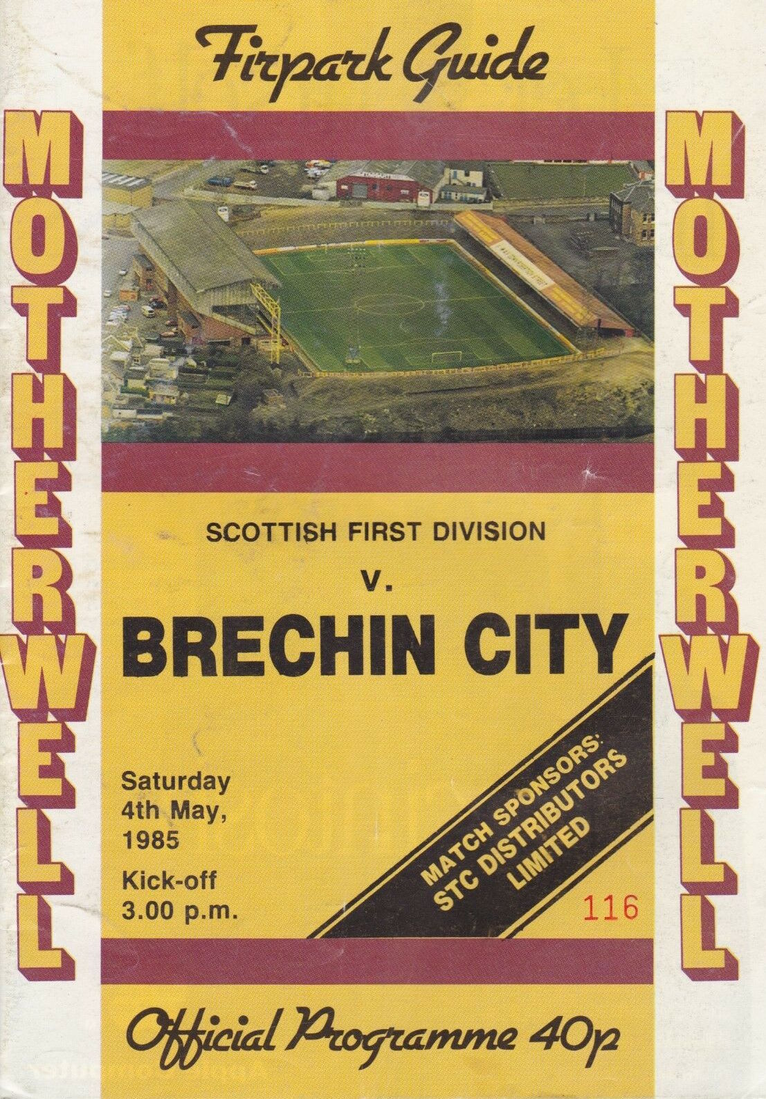 versus Brechin City Programme Cover