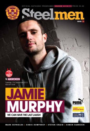 versus Aberdeen Programme Cover