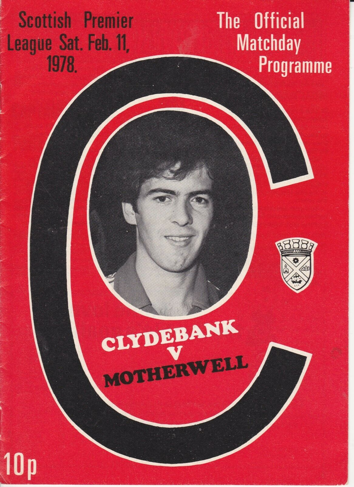 versus Clydebank Programme Cover - Original Match was postponed, rearranged 11th March 1978