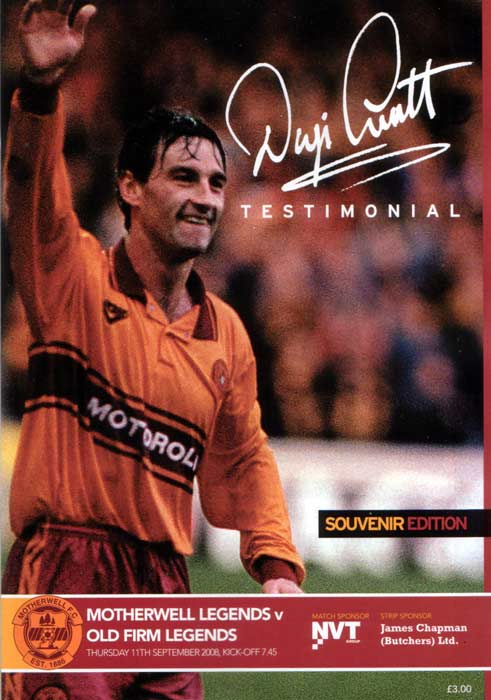 Dougie Arnott Testimonial Programme - Motherwell Legends vs Old Firm Legends