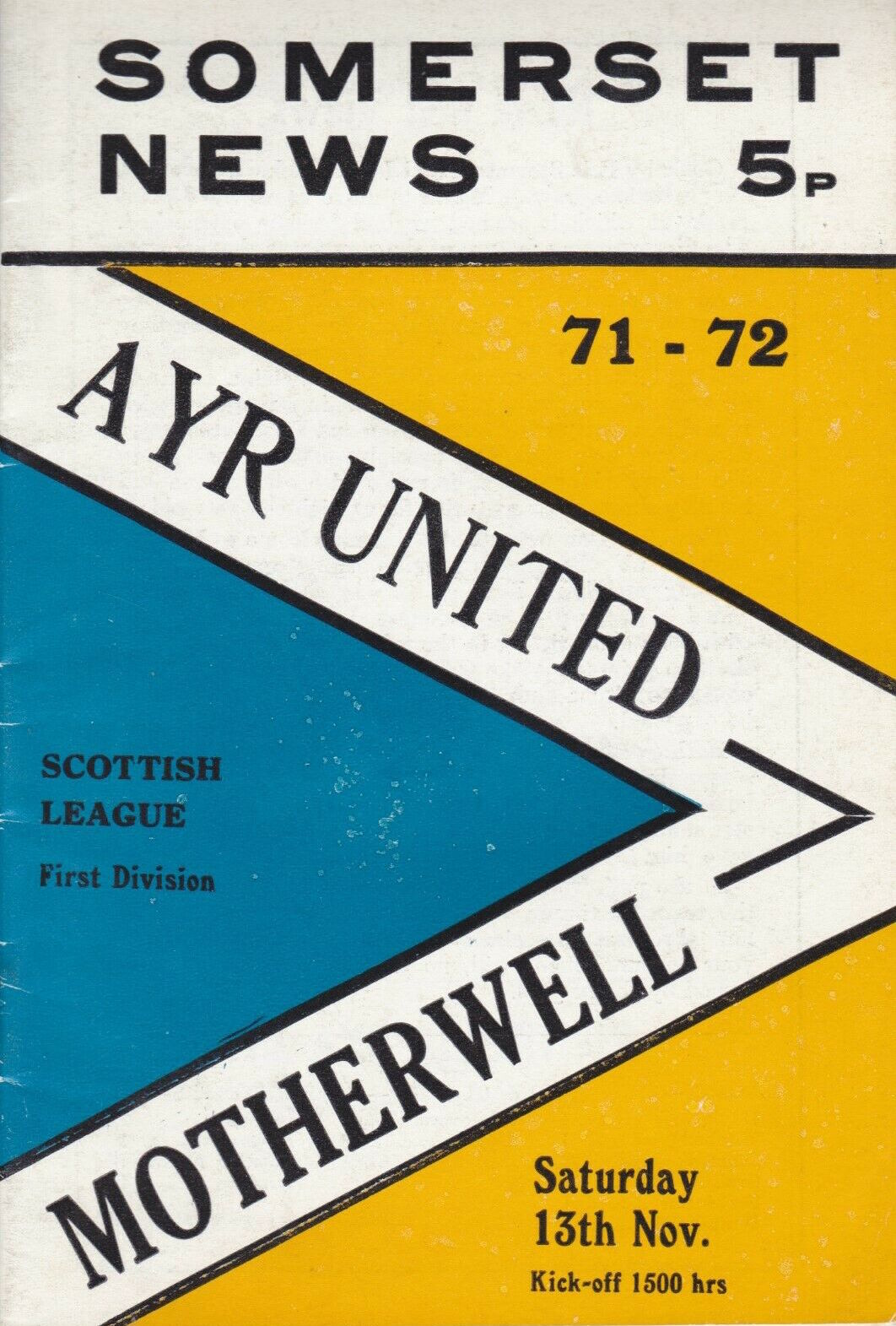 versus Ayr United Programme Cover