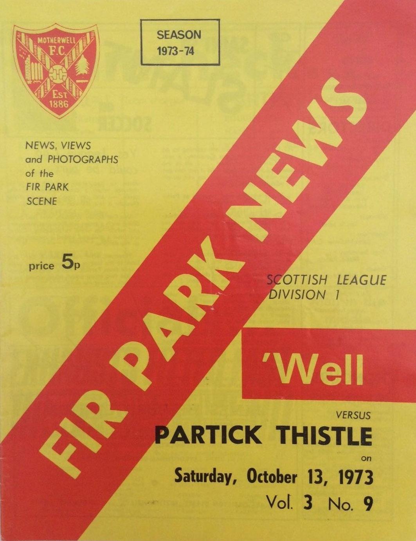 versus Partick Thistle Programme Cover