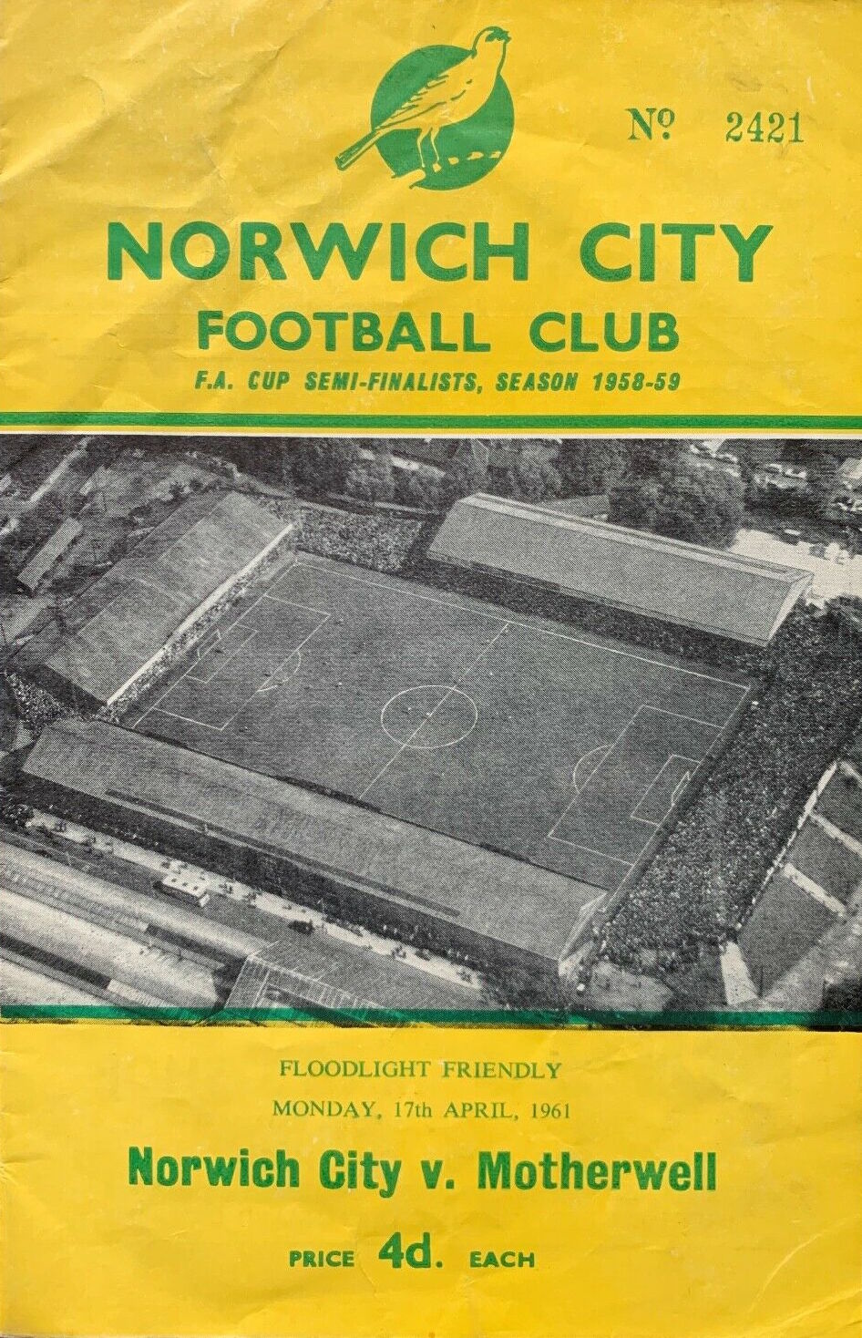 versus Norwich City Programme Cover