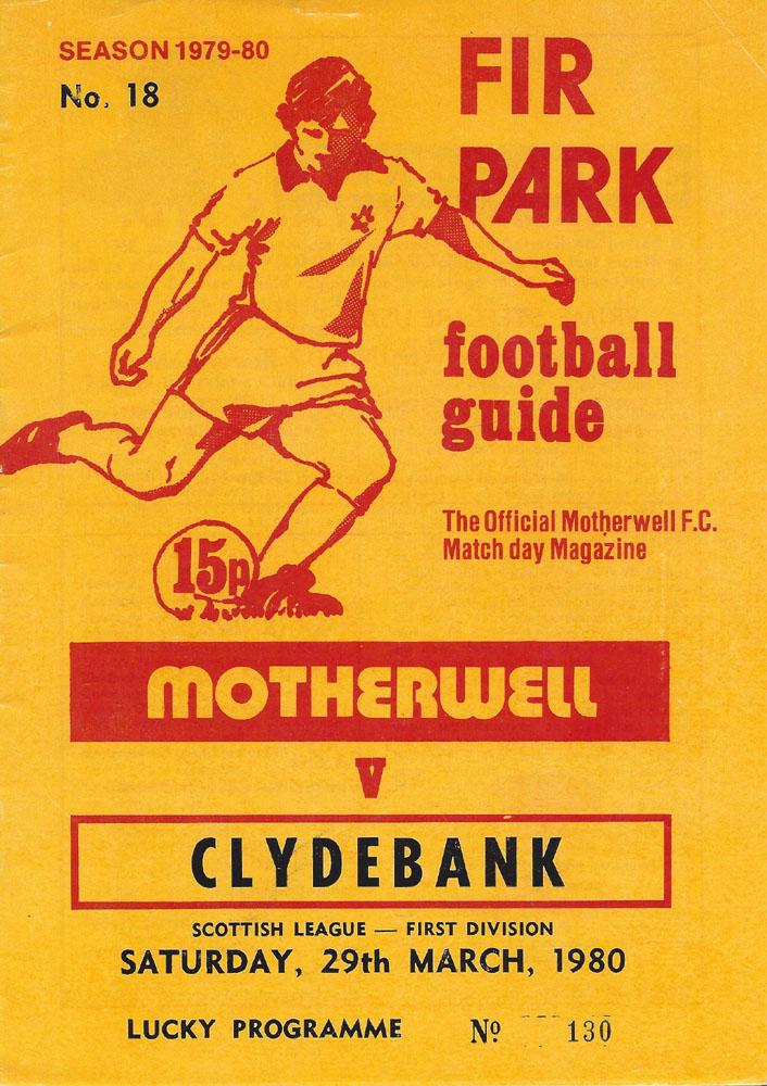 versus Clydebank Programme Cover