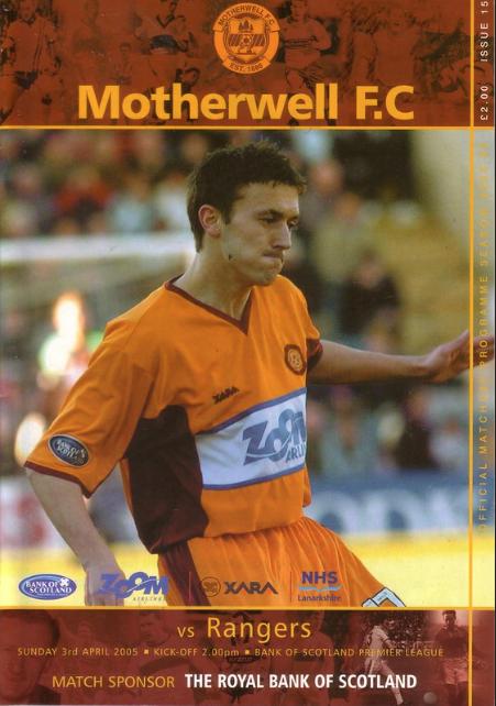 versus Rangers Programme Cover