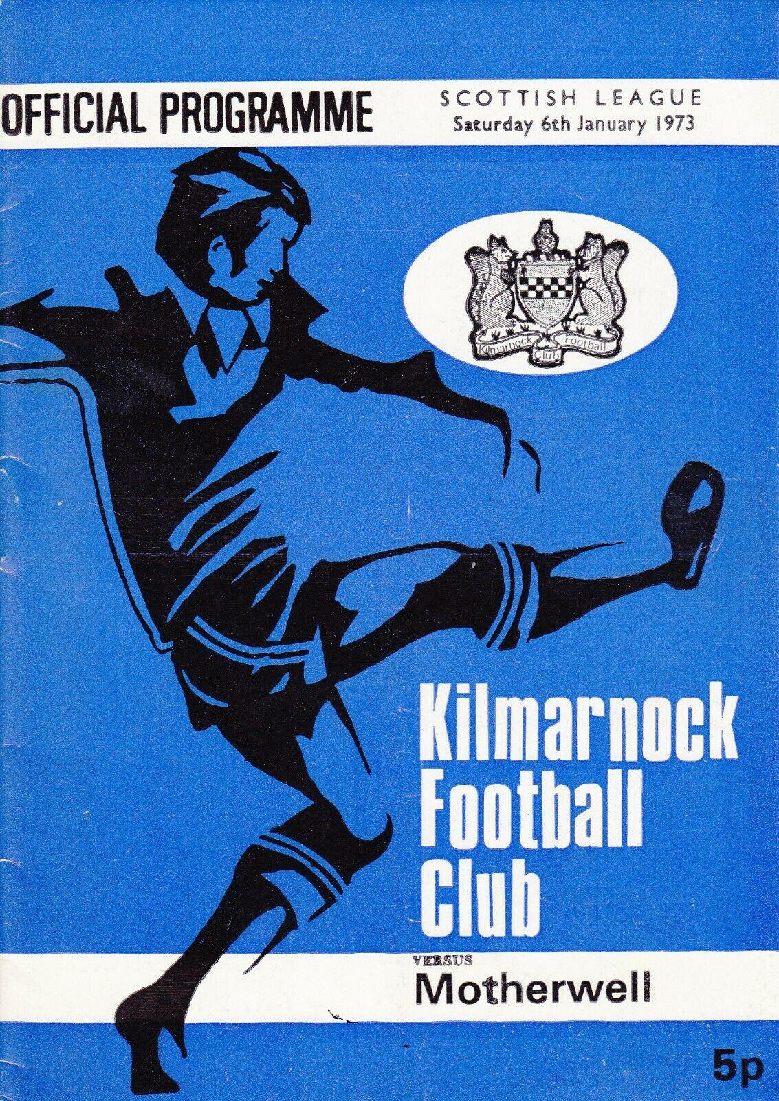 versus Kilmarnock Programme Cover