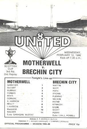 versus Brechin City - Scottish Cup Replay - Tannadice