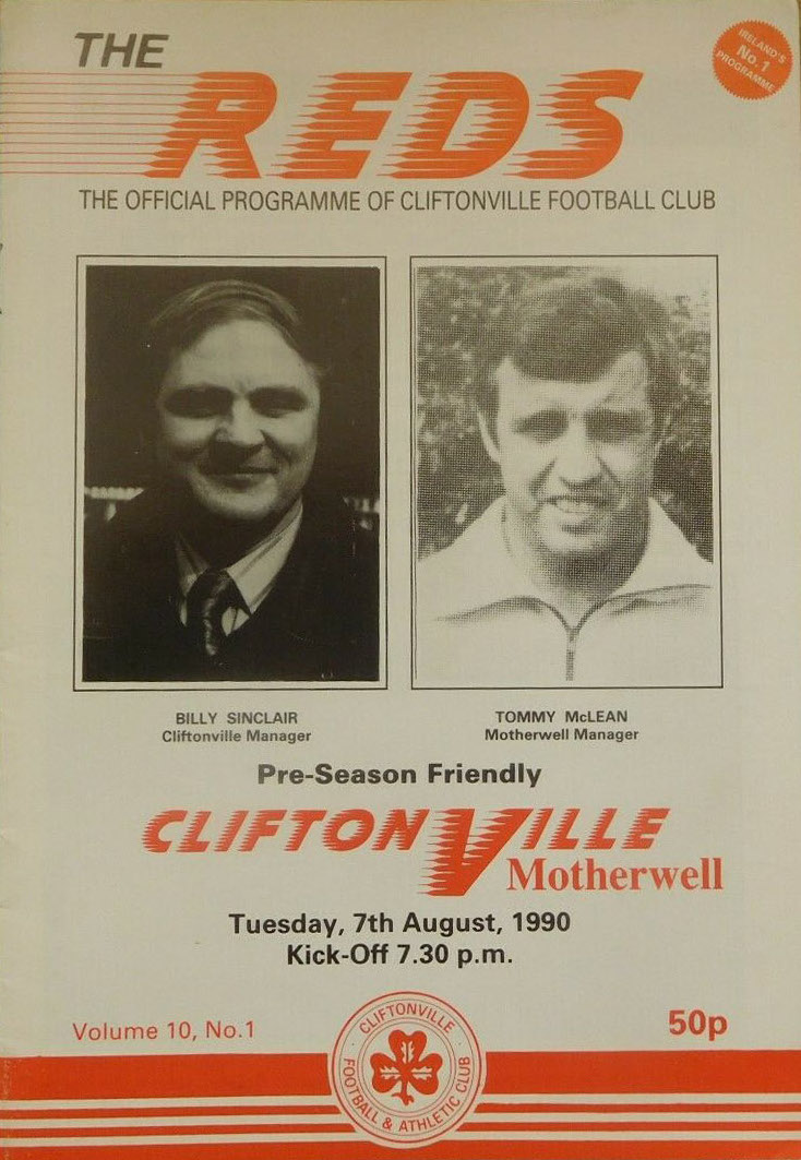 versus Cliftonville Programme Cover