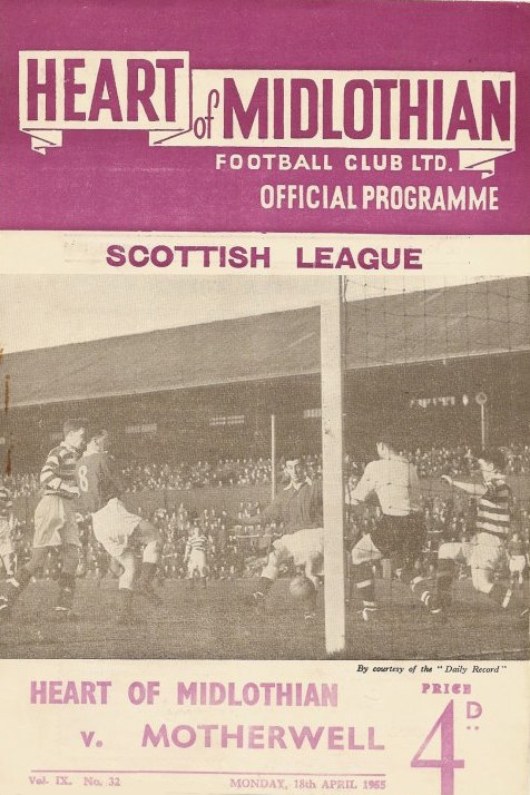 versus Hearts Programme Cover