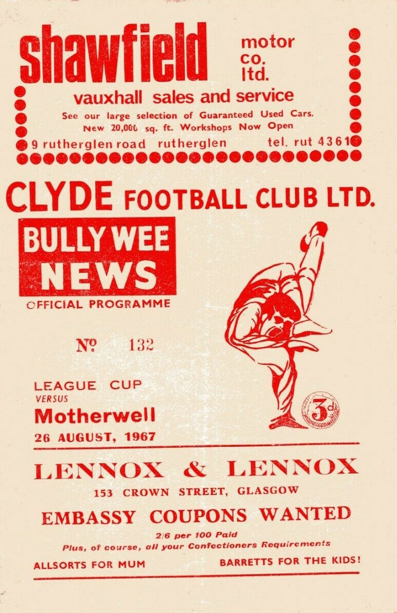 versus Clyde Programme Cover