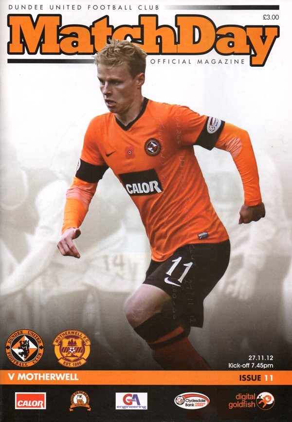 versus Dundee United Programme Cover