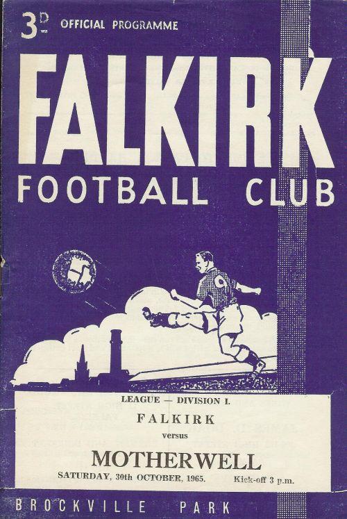 versus Falkirk Programme Cover