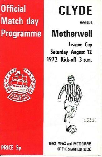versus Clyde Programme Cover