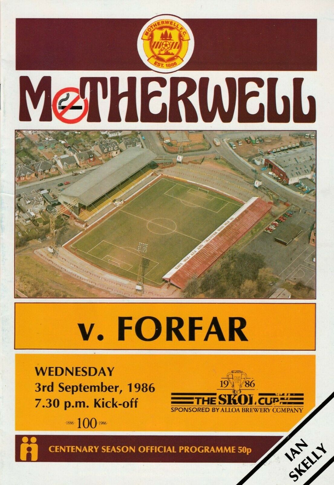 versus Forfar Athletic Programme Cover