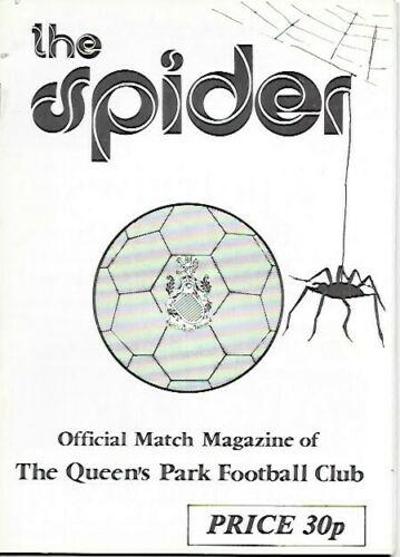 versus Queens Park Programme Cover