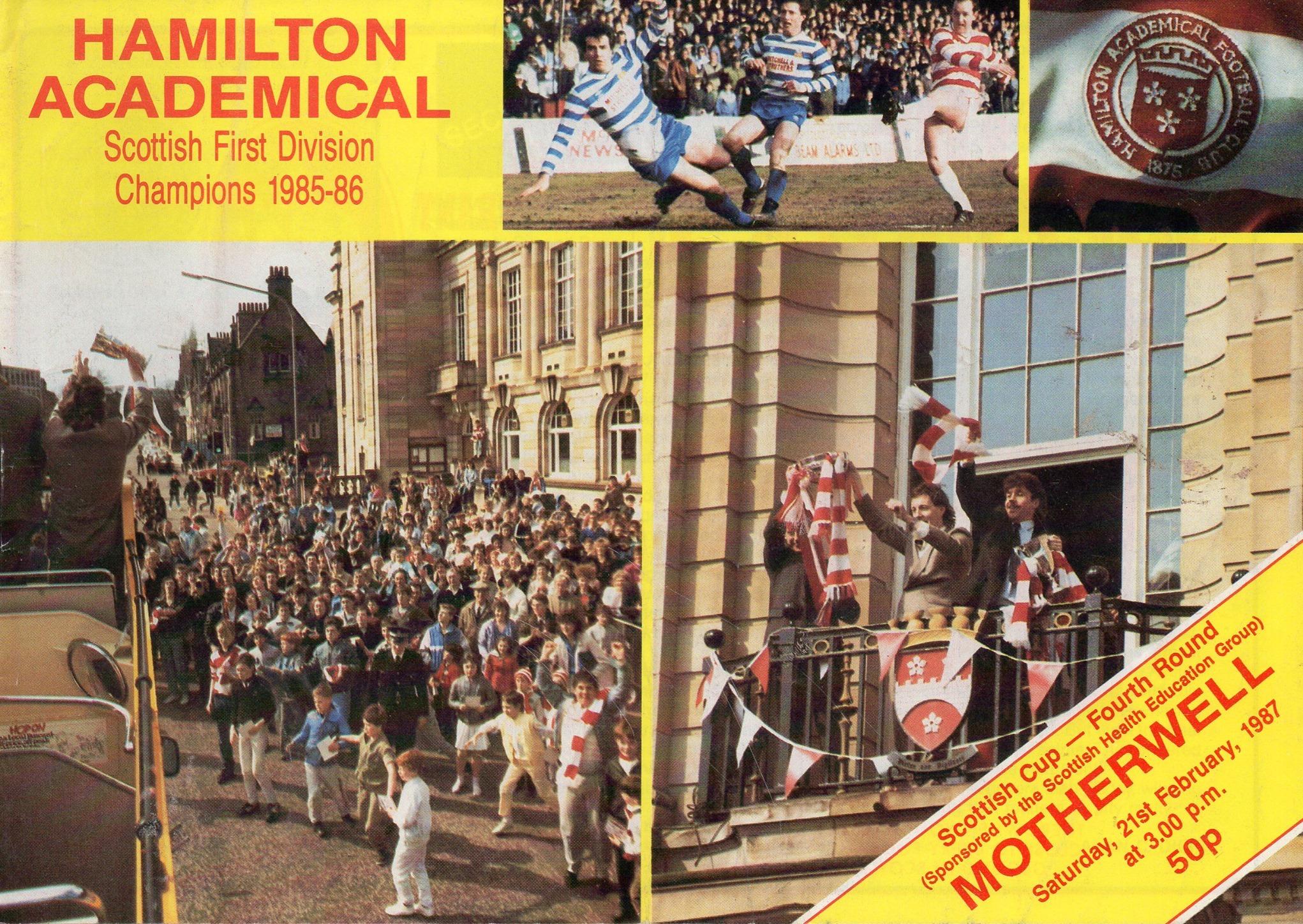 versus Hamilton Programme Cover