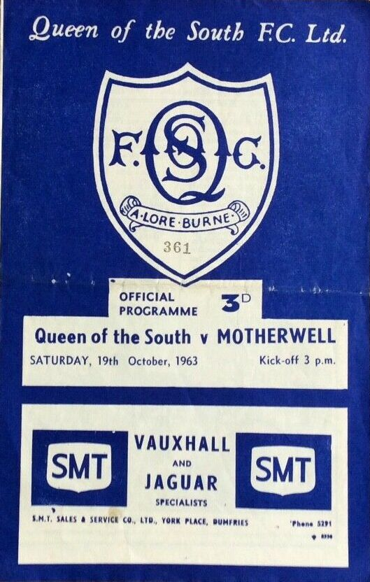 versus Queen of the South Programme Cover