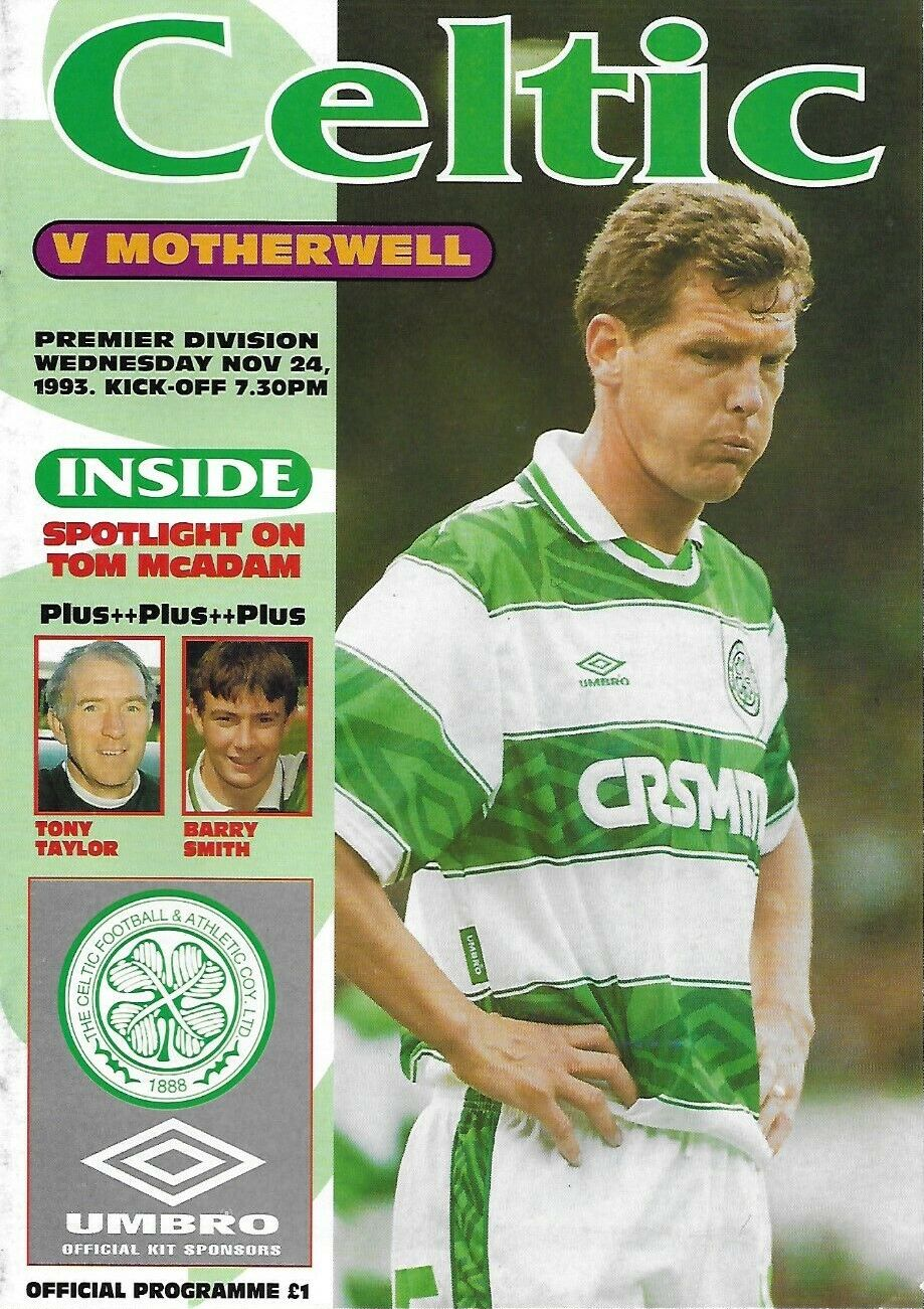 versus Celtic Programme Cover