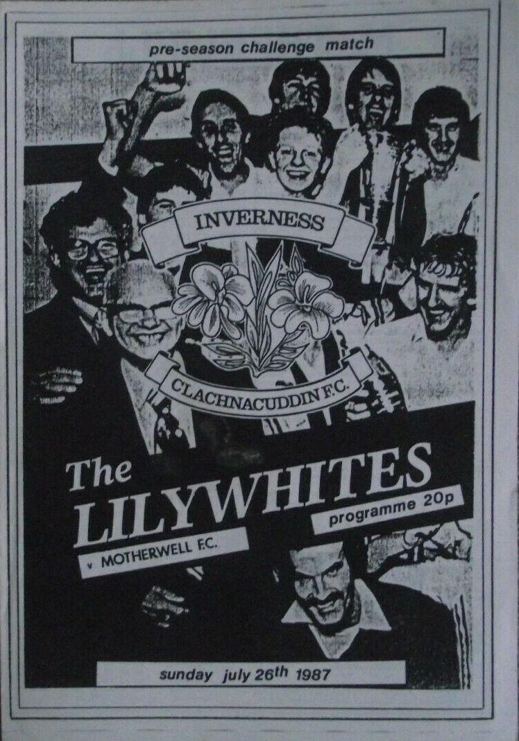 versus Inverness Clachnacuddin Programme Cover