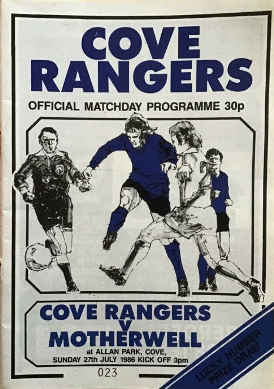versus Cove Rangers Programme Cover