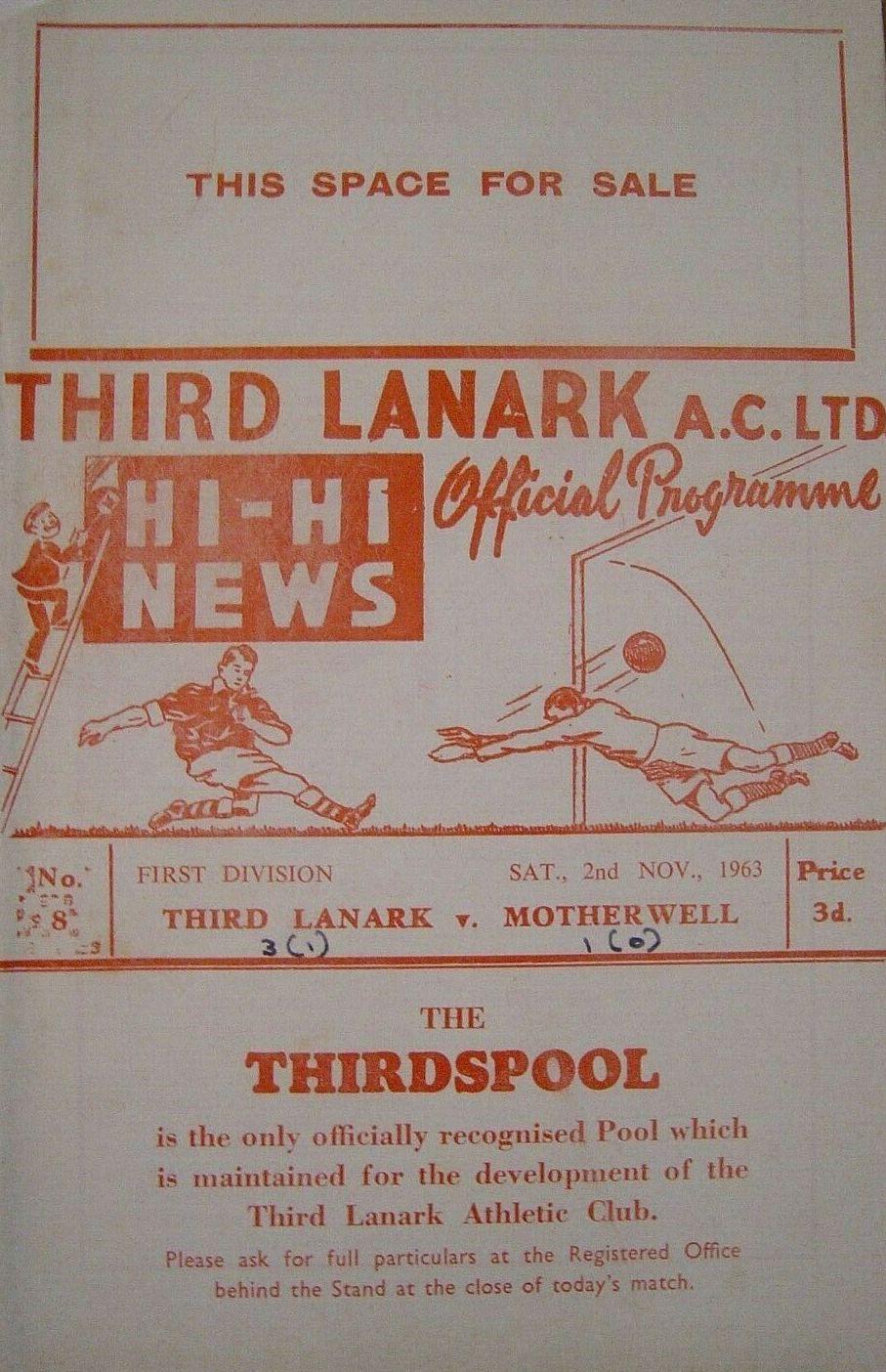 versus Third Lanark Programme Cover