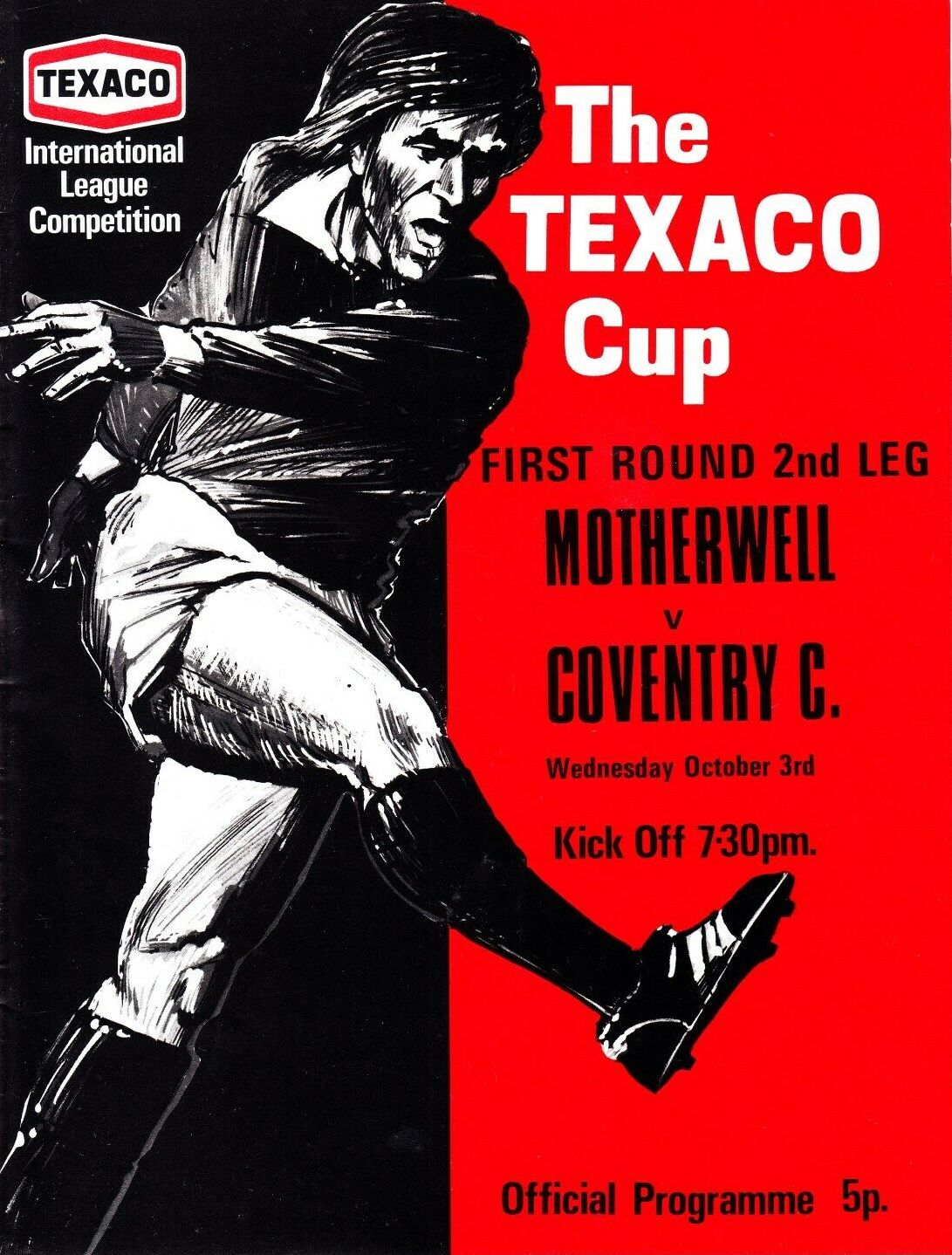 versus Coventry City Programme Cover